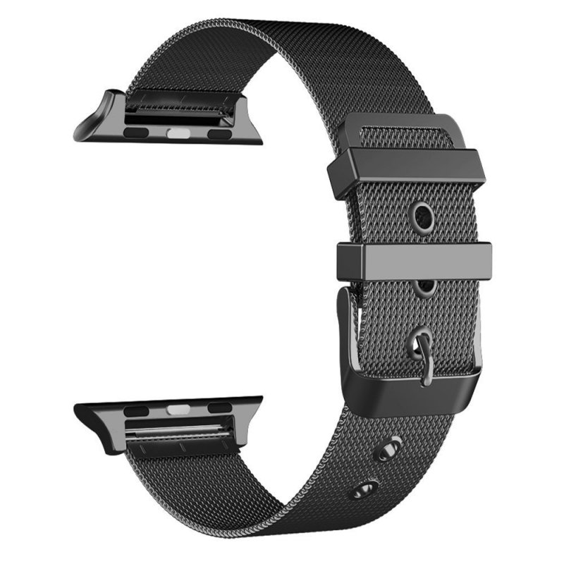 Correa COOL para Apple Watch Series 1 / 2 / 3 / 4 / 5 / 6 / SE (42 / 44 mm) Metal Negro