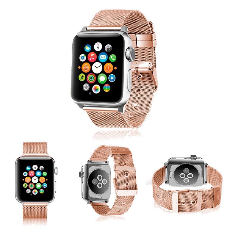Correa COOL para Apple Watch Series 1 / 2 / 3 / 4 / 5 / 6 / SE (42 / 44 mm) Metal Rose Gold