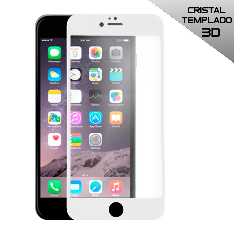 Protector Pantalla Cristal Templado iPhone 6 / 6s (FULL 3D Blanco)