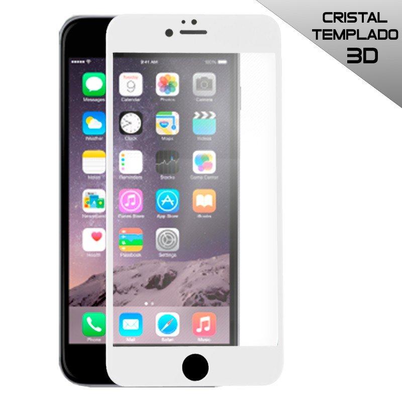 Protector Pantalla Cristal Templado COOL para iPhone 6 Plus / 6s Plus (FULL 3D Blanco)