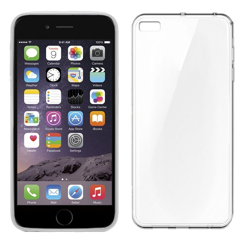 Funda Silicona iPhone 6 Plus / 6s Plus (Transparente)