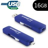 Pen Drive USB x16 GB Integral OTG Slide Azul
